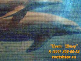 Мозаичные фрески в интерьере.