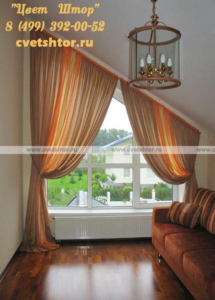 Дизайн штор с нестандартными окнами