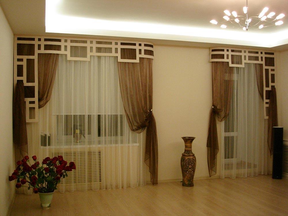 Современный дизайн шторы для кухни фото