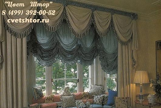 Дизайн штор эркер фото